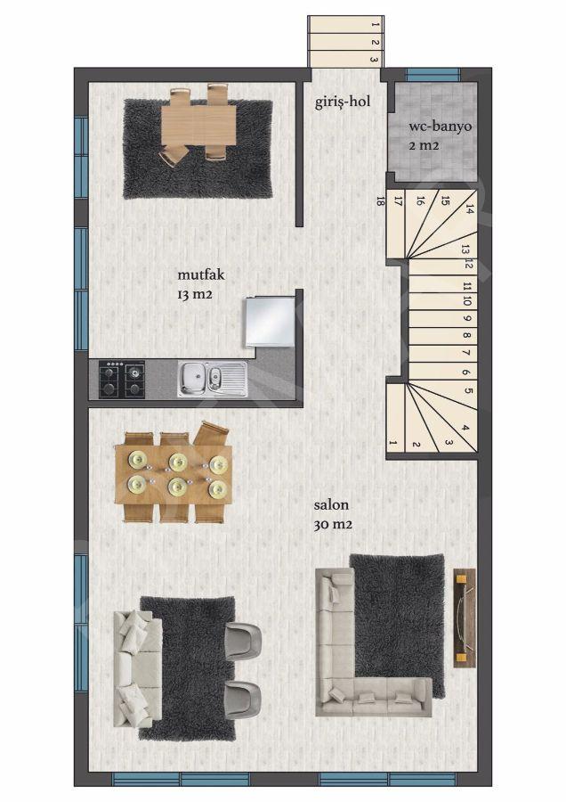 Didim Efeler Mahallesinde Satılık 3+1 Ayrı Mutfak Villa