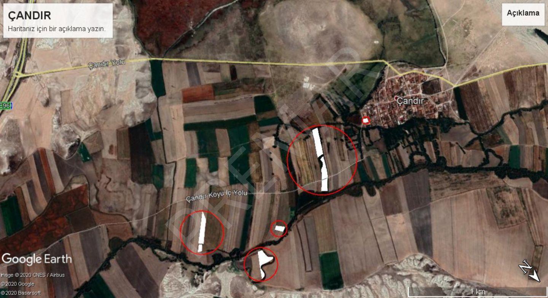 Eskişehir Sivrihisar Çandır Mahallesinde Satılık Tarlalar