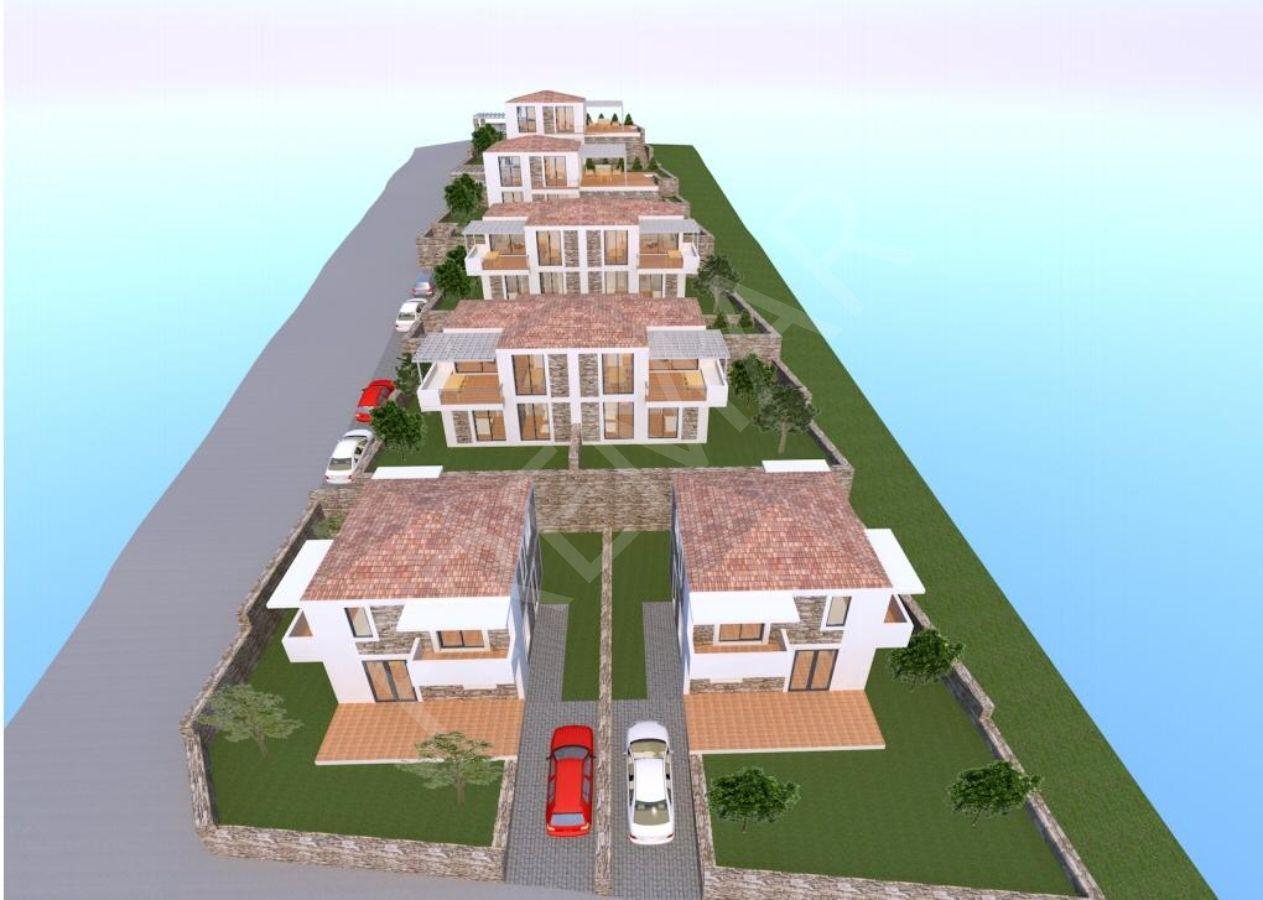 Premar Datça Merkezde Projeden 3+1 Full Deniz Manzaralı Villalar