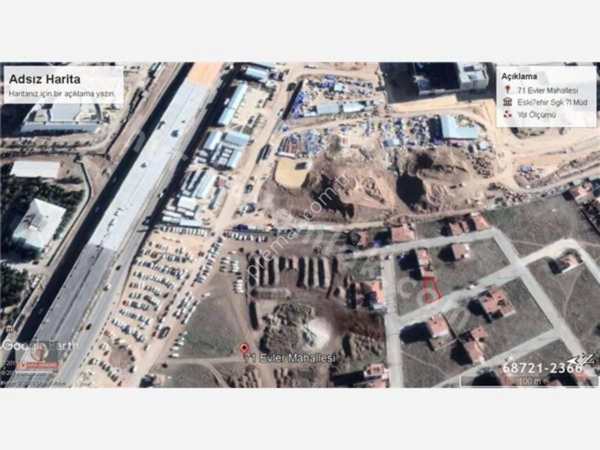 Eskişehir Odunpazarı 71 Evler Mahallesinde Satılık Arsa