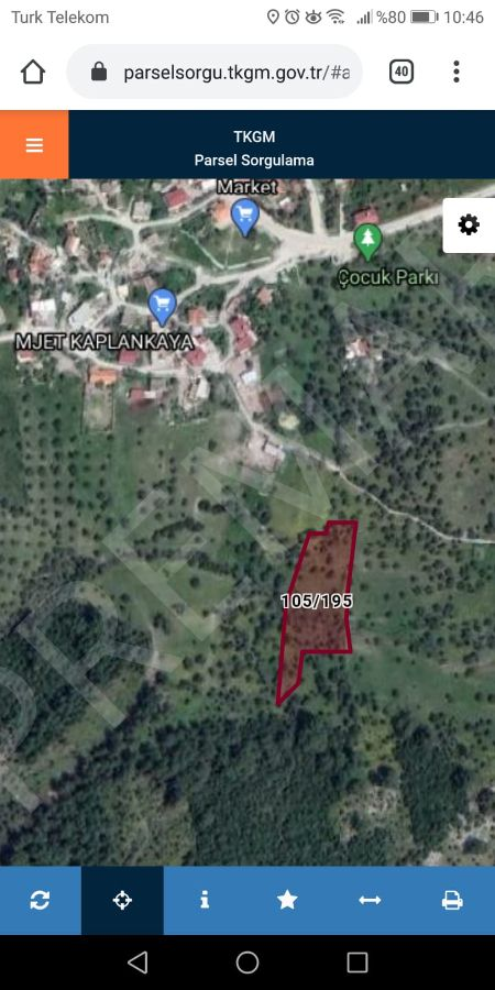 Milas Kazıklıbucakta Satılık Tarla