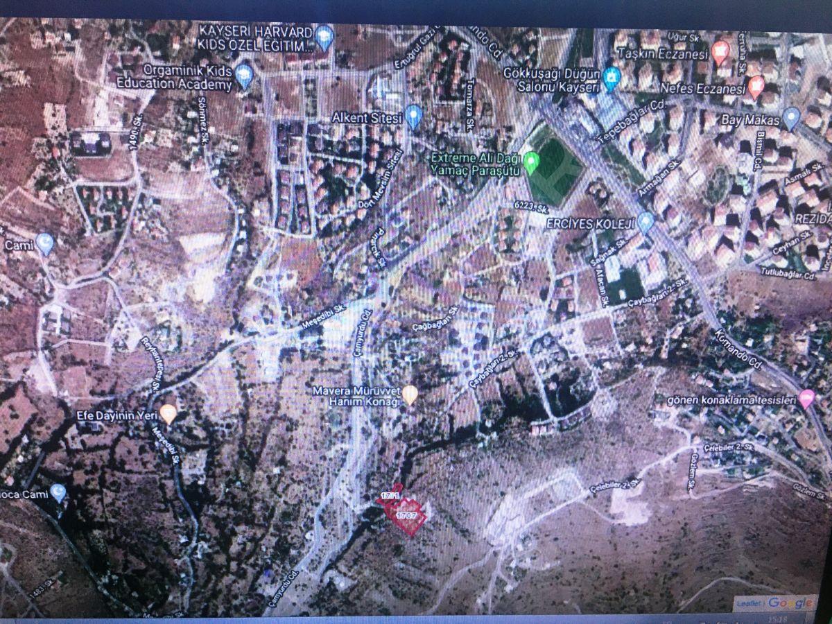 Premardan Talas Paraşüt Pisti Arkası 6116 M2villa Arsası