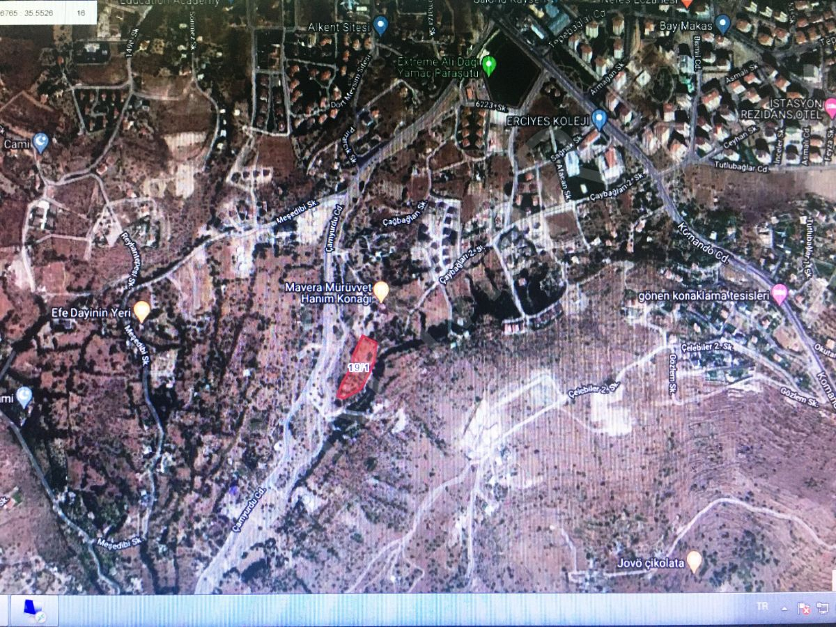 Premardan Talas Paraşüt Pisti Arkası Özel Okul Arsası 6120m2