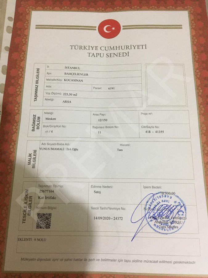 Şirinevler'de Satılık Krediye Uygun Daire 90 M2 , 2+1