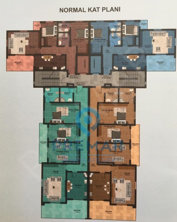 Golden House Avsallar 2+1 Daireler 69.000€