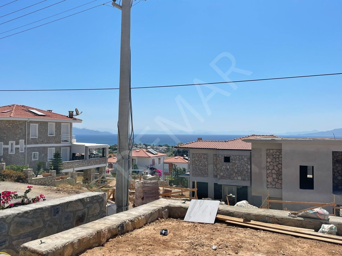 Premar Datça Burgaz'da 3+1 Full Deniz Manzaralı Bahçeli Daire